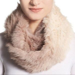 Nordstrom Accessories - NWT Love Token Rabbit Fur Infinity scarf